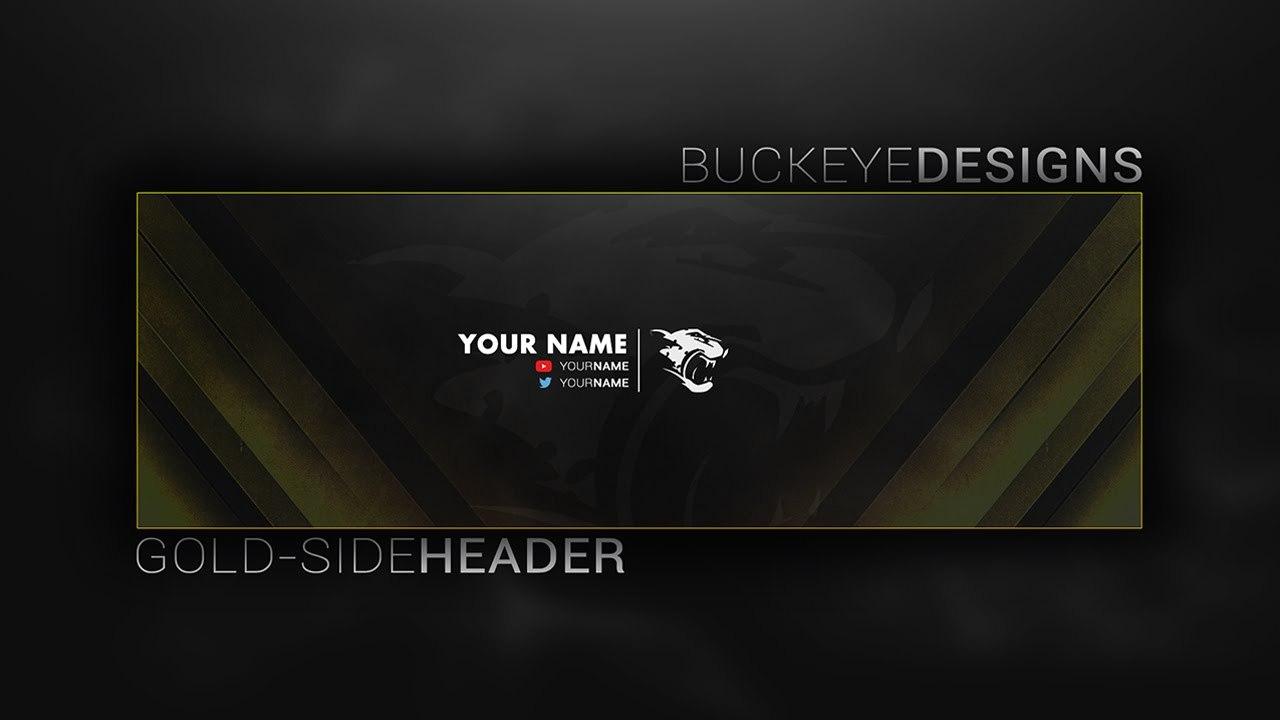 Twitter Header Template  Psd  Twitter Header Speed Art Gold In Twitter Banner Template Psd