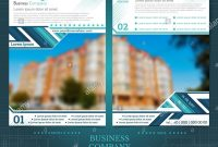 Two Sided Brochure Or Flayer Template Design With One Blurred Color throughout One Sided Brochure Template