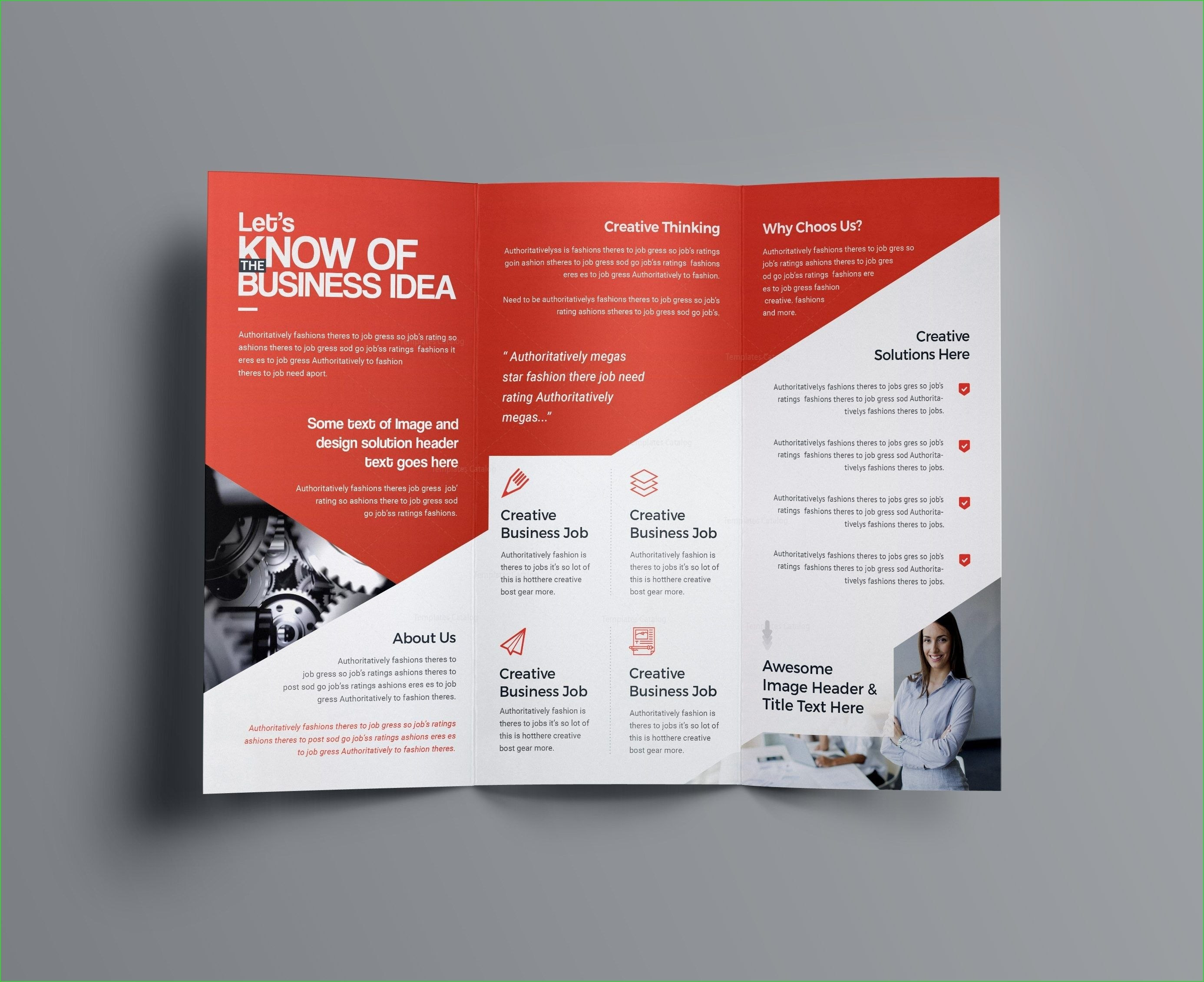Two Sided Brochure Template Aphrodite Business Tri Fold Brochure Pertaining To Double Sided Tri Fold Brochure Template