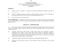 Uk Intellectual Property Licence Agreement  Legal Forms And throughout Intellectual Property License Agreement Template