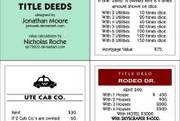 Ultimate Monopoly Title Deeds Printablejonizaak On Deviantart within Monopoly Property Card Template