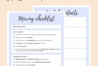 Ultimate Moving Checklist Free Printable  Ingomar House  Moving in Moving House Cards Template Free