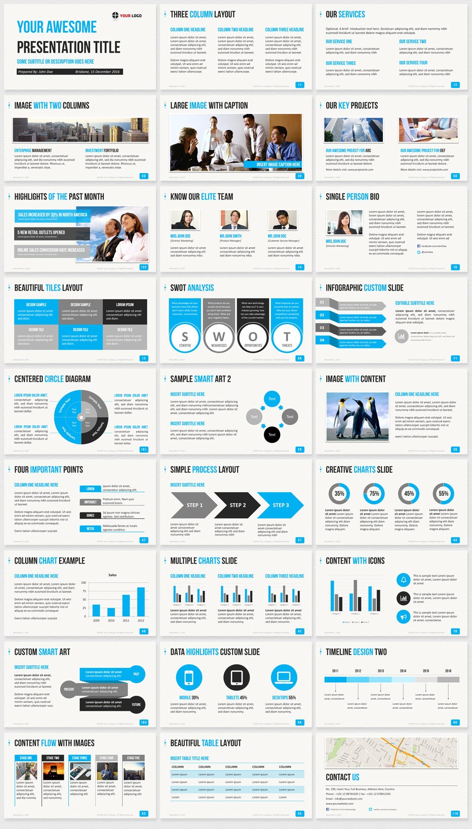 Ultimate Professional Business Powerpoint Template   Clean Slides Intended For Powerpoint Photo Slideshow Template