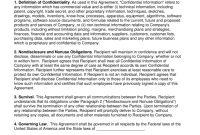 Unilateral Way Nondisclosure Agreement Nda Template  Eforms in Unilateral Non Disclosure Agreement Template