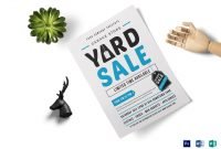 Unique Yard Sale Flyer Template within Yard Sale Flyer Template Word