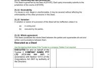 Unit Holders Agreement With Trust  Download In Word Immediately regarding Unitholders Agreement Template