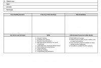 Unit Lesson Plan Templates Template Ideas Stupendous Word inside Blank Unit Lesson Plan Template