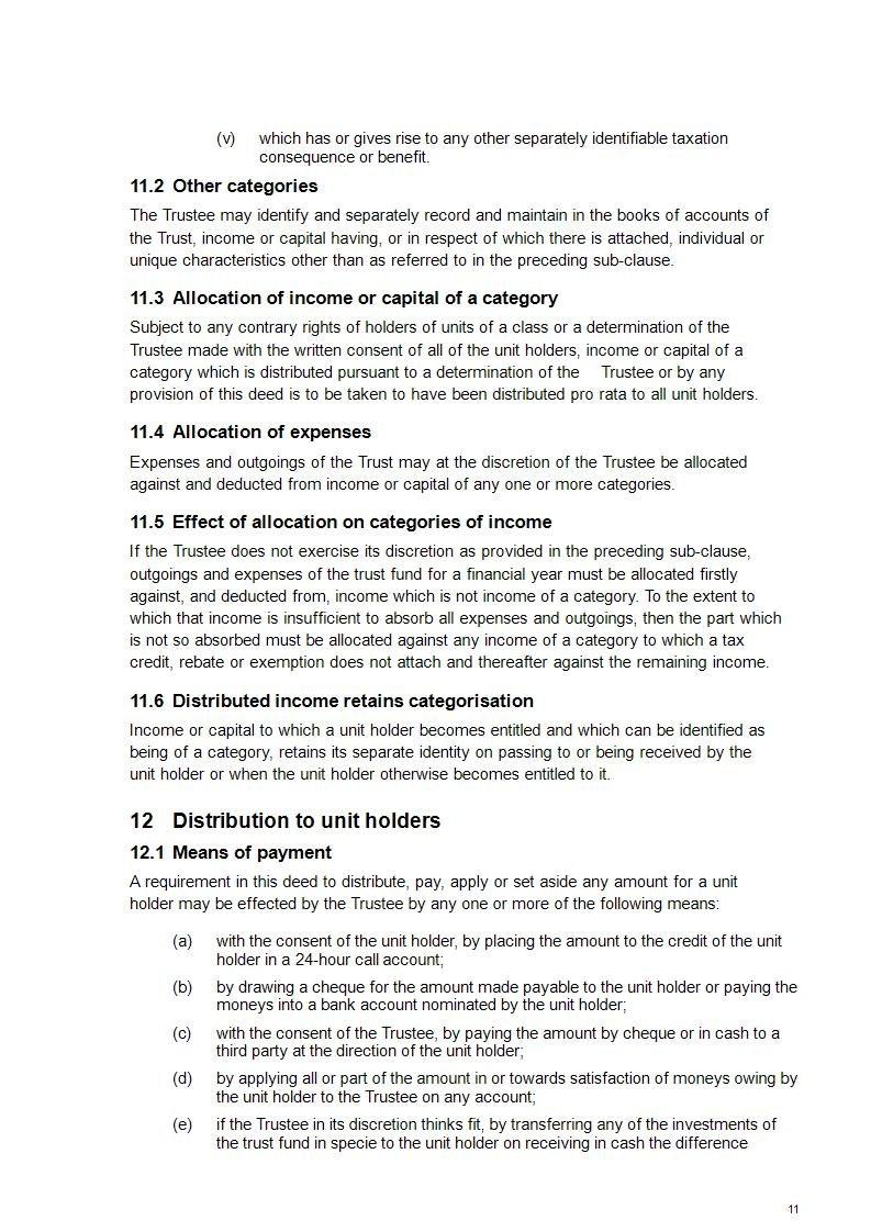 Unit Trust Deed Template  Unit Trusts Online  Free Sample Inside Unitholders Agreement Template