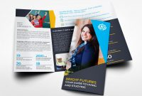University College Tri Fold Brochure Templateowpictures On Dribbble within Tri Fold School Brochure Template