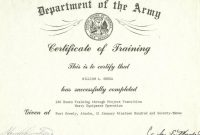 Us Army Training Us Army Training Certificates inside Army Certificate Of Completion Template