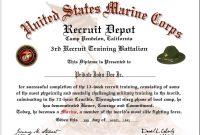 Us Marine Corps Boot Camp Graduation Certificate inside Boot Camp Certificate Template