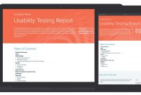 Usability Testing Report Template And Examples  Xtensio For Usability Test Report Template