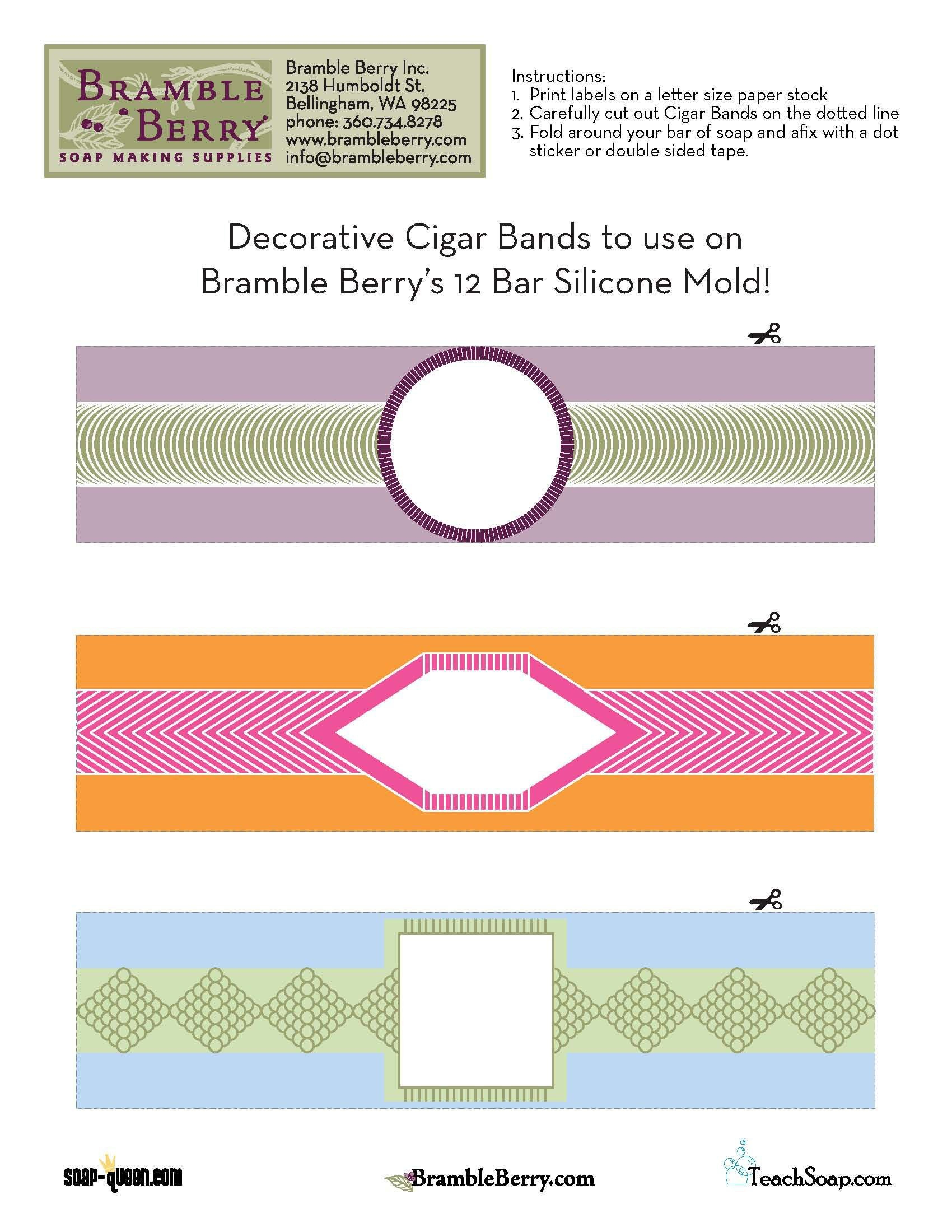 Use Our Free Label File To Print Out And Make Your Own Cigar Band Regarding Cigar Label Template