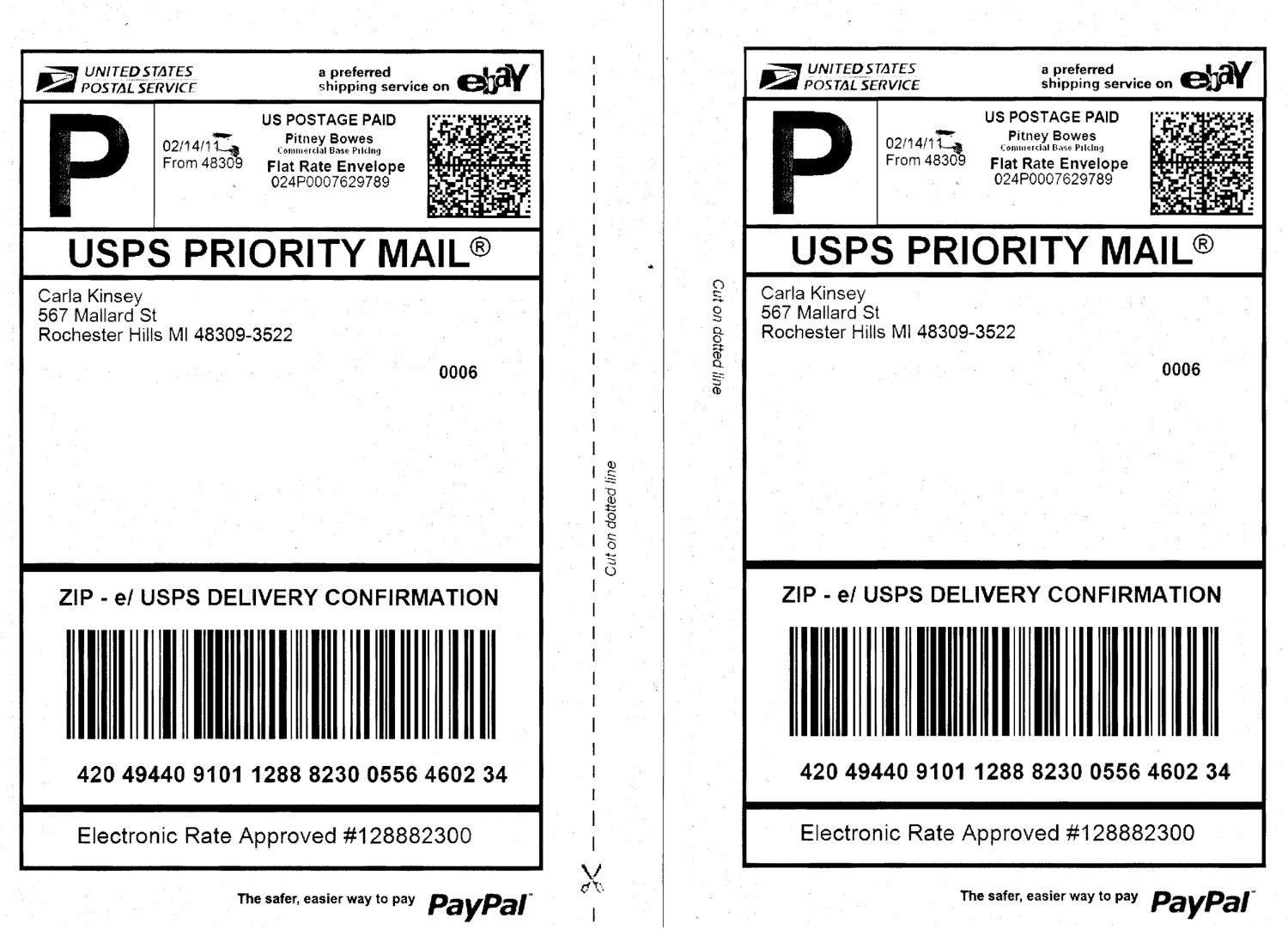 Usps Shipping Label Template  World Of Template  Format In Usps Inside Usps Shipping Label Template Download