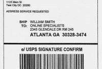 Usps Shipping Label Template  Yourbodyua – Label Maker Ideas pertaining to Online Shipping Label Template