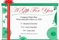 Vacation Gift Certificate Template Free Beautiful Custom Gift pertaining to Microsoft Gift Certificate Template Free Word