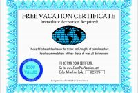 Vacation Gift Certificate Template Free Best Travel Gift Voucher throughout Free Travel Gift Certificate Template