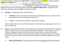 Vacation Rental Property Management Contract Template within Vacation Home Rental Agreement Template