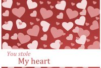 Valentine Cards inside Valentine Card Template Word