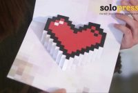 Valentine's Day D Pixel Heart Love Cards  Learn How To Make Them intended for Pixel Heart Pop Up Card Template