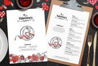 Valentine's Day Menu Template In Psd Ai  Vector  Brandpacks with Valentine Menu Templates Free