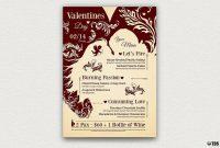 Valentine's Day Menu Template V  Design Promotional Ideas  Menu in Valentine Menu Templates Free