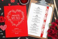 Valentines Menu Template Vol  Psd Ai  Vector  Brandpacks regarding Free Valentine Menu Templates