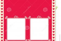 Valentine's Menu Template With Heart Borders Stock Vector pertaining to Free Valentine Menu Templates