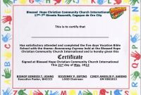 Vbs Certificate Of Attendance Printable  Best Design Sertificate for Free Vbs Certificate Templates