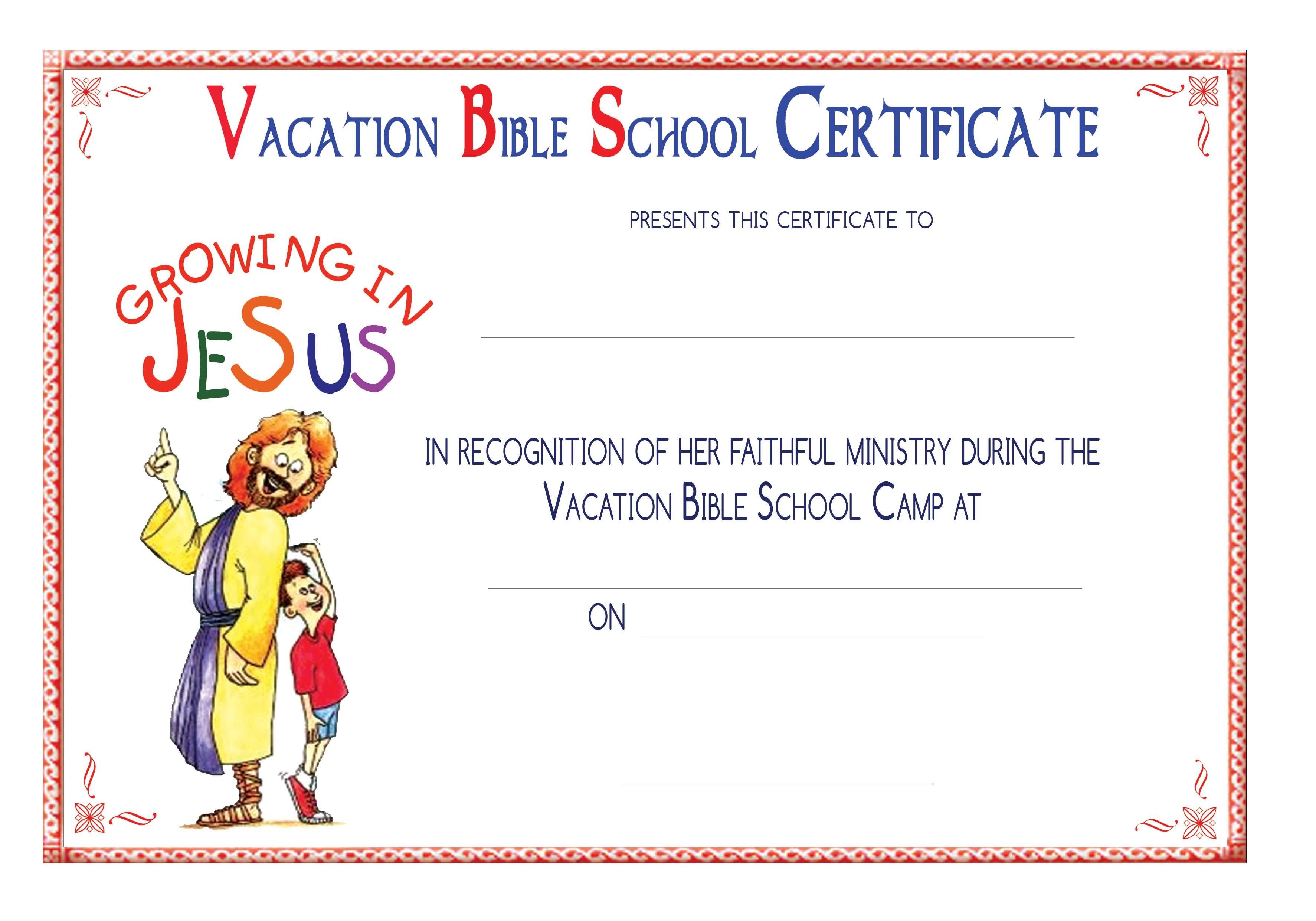 Vbs Certificate Templatesencephalos  Encephalos  Church Inside Free Vbs Certificate Templates