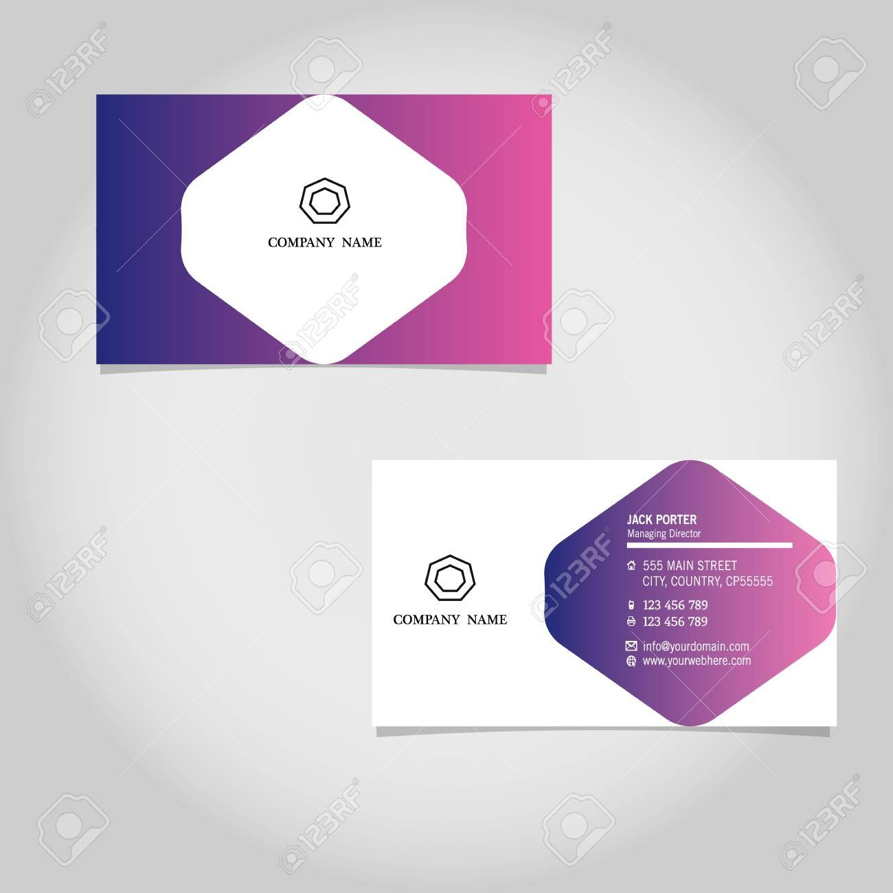Vector Business Card Template Design Adobe Illustrator For Adobe Illustrator Business Card Template