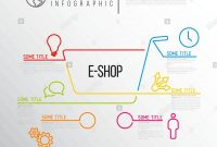 Vector Ecommerce Eshop Infographic Report Template Made From Lines regarding Shop Report Template