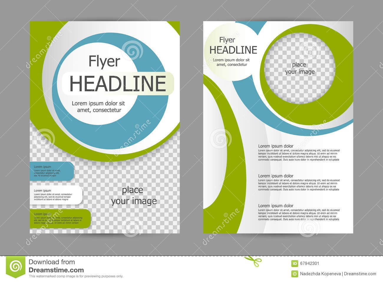 Vector Flyer Template Design Stock Vector  Illustration Of With Training Brochure Template