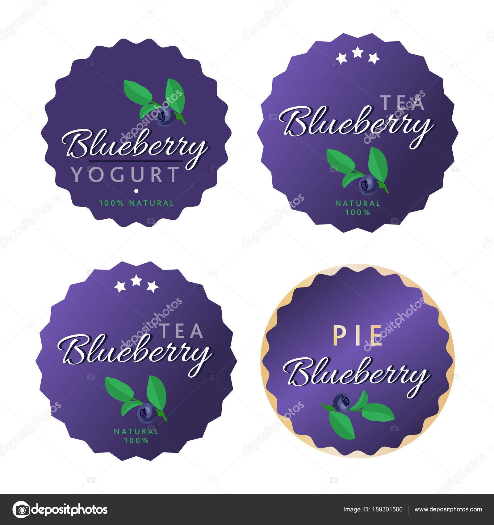 Vector Set Of Product Labels Blueberry Template For Food Packaging For Food Product Labels Template
