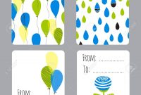Vector Set Of Small Card Templates With Place For Text For Greeting for Small Greeting Card Template