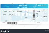 Vector Train Ticket Traveler Check … Stock Photo   Avopix within Blank Train Ticket Template