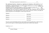 Vehicle Deposit Form   Free Templates In Pdf Word Excel Download intended for Non Refundable Deposit Agreement Template