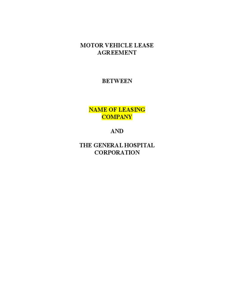 Vehicle Lease Template  Vehicle Lease Templates Free Sample Pertaining To Free Motor Vehicle Lease Agreement Template