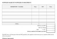 Vehicle Tax Invoice Template with Tax Invoice Template Doc