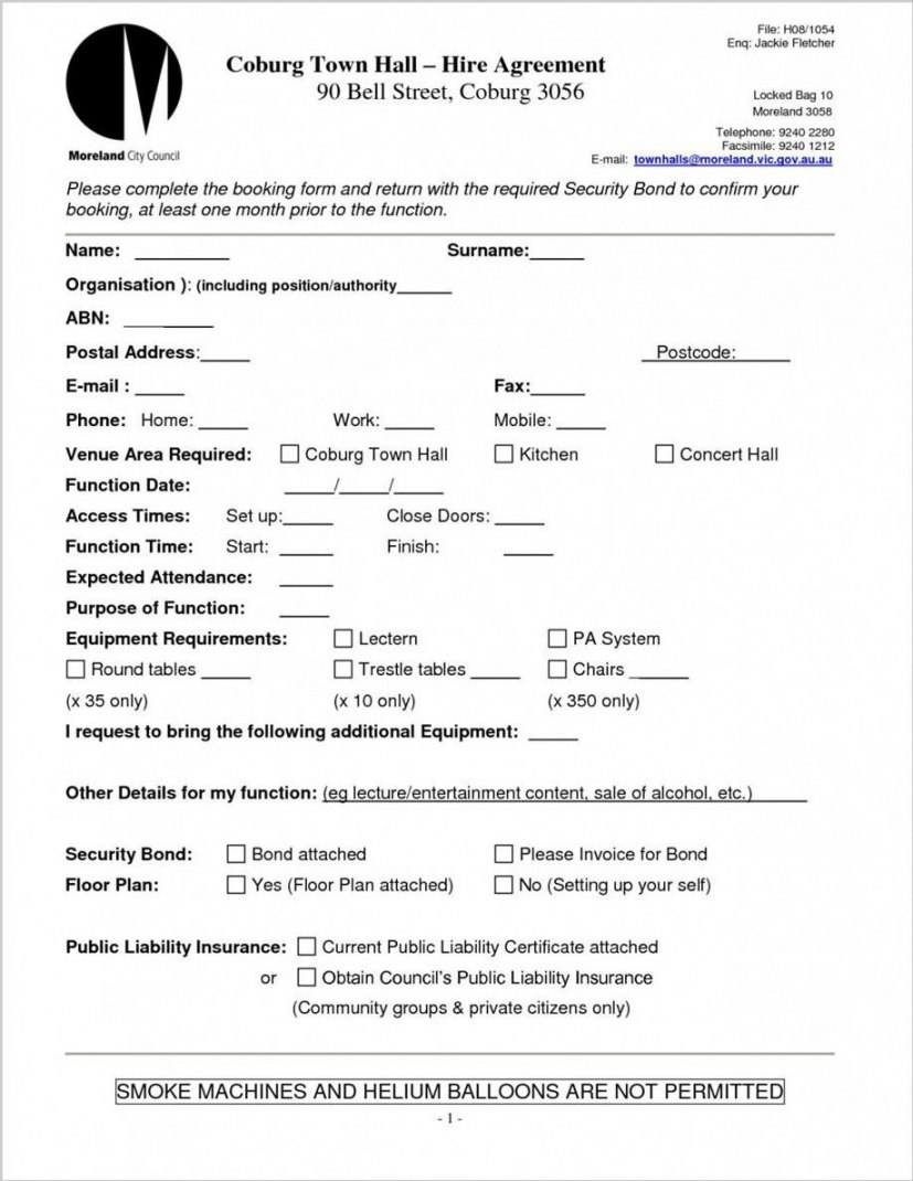Venue Hire Contract Template Within Venue Hire Agreement Template