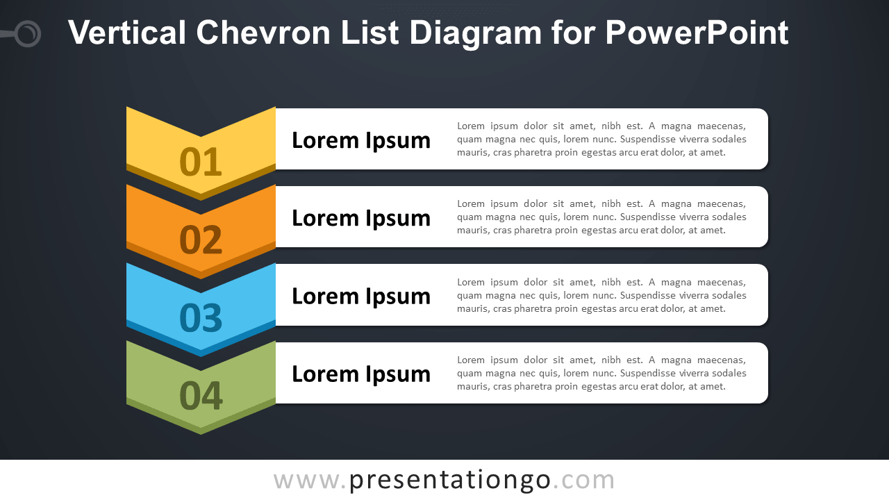 Vertical Chevron List For Powerpoint  Presentationgo Intended For Powerpoint Chevron Template