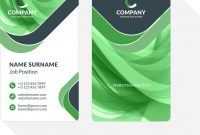 Vertical Doublesided Business Card Template With Vector Image On  Vectorstock in Double Sided Business Card Template Illustrator