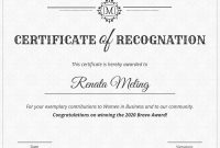 Vintage Certificate Of Recognition Template Template  Venngage intended for Template For Recognition Certificate