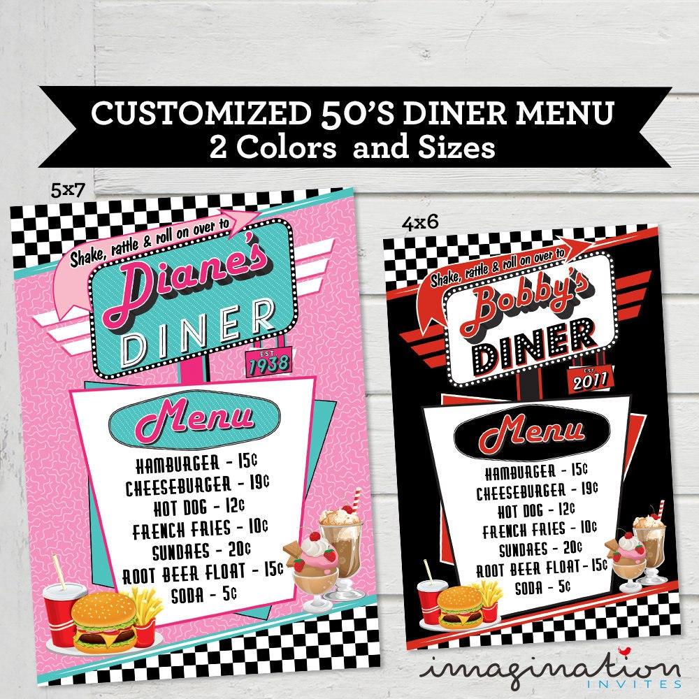 Vintage Diner Menu Template Inside Diner Menu Template