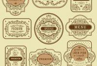 Vintage Floral Decorative Label Template inside Decorative Label Templates Free
