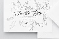 Vintage Flower Save The Date Instant Download Printable  Etsy in Save The Date Cards Templates