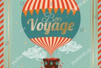 Vintage Hot Air Balloon Bon Voyage… Stock Photo   Avopix with regard to Bon Voyage Card Template