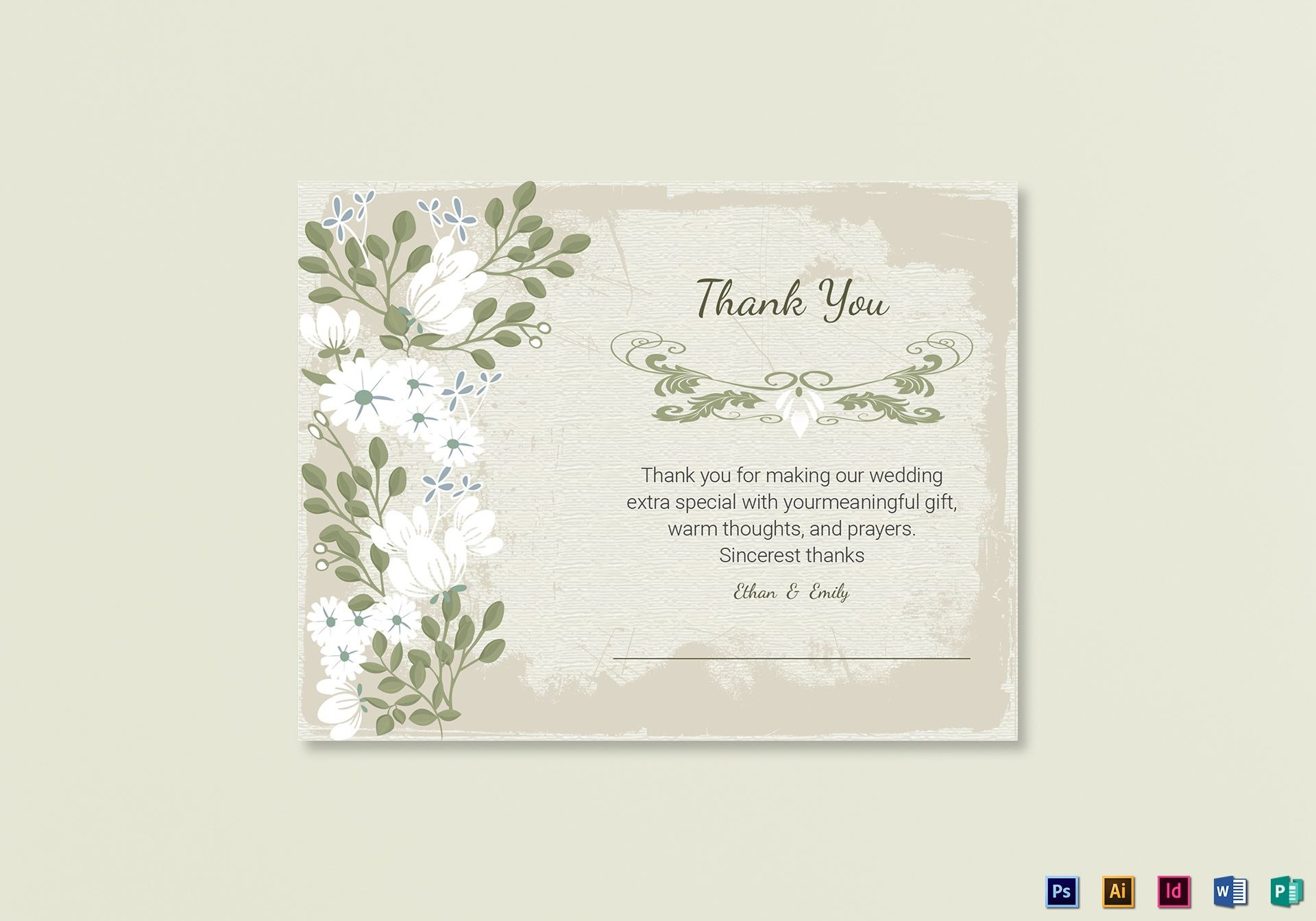 Vintage Thank You Card Template In Psd Word Publisher Illustrator Regarding Thank You Card Template Word