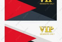 Vip Template Vector Membership Card Vip Card Pvc Card Png And intended for Pvc Card Template
