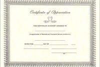 Volunteer Appreciation Award Template  Free Download  Dtemplates with Volunteer Certificate Templates